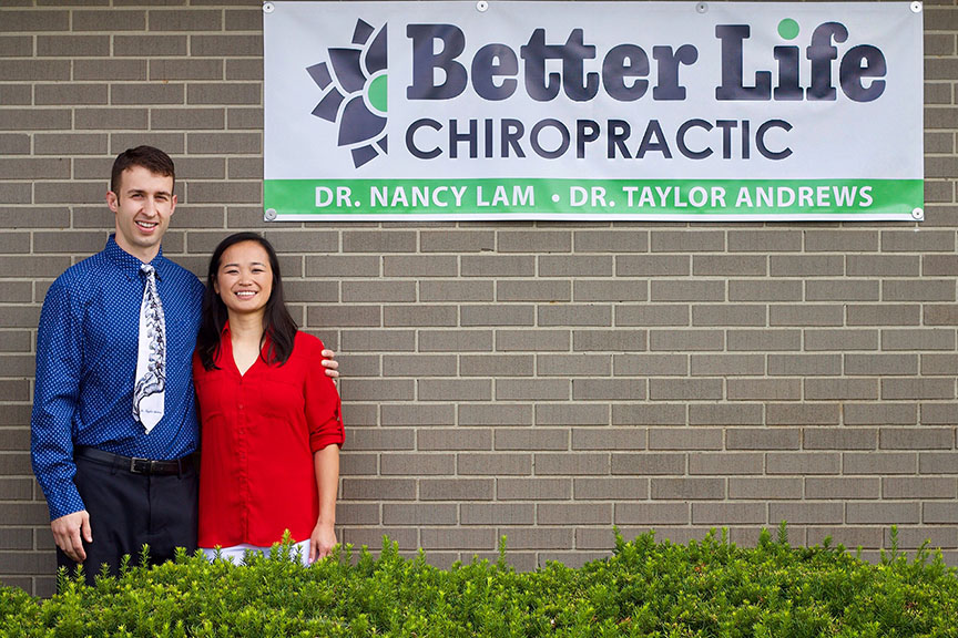 Nancy Lam and Taylor Andrews of Better Life Chiropractic